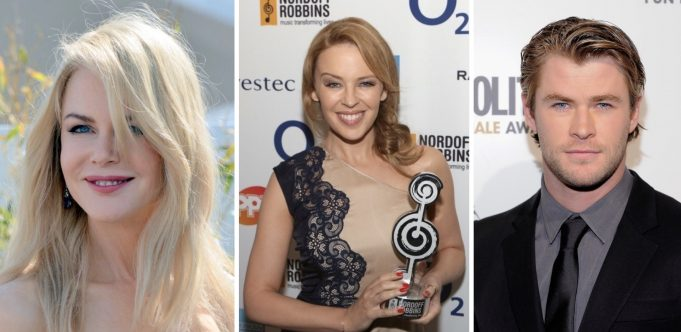 Kylie Minogue Chris Hemsworth Nicole Kidman